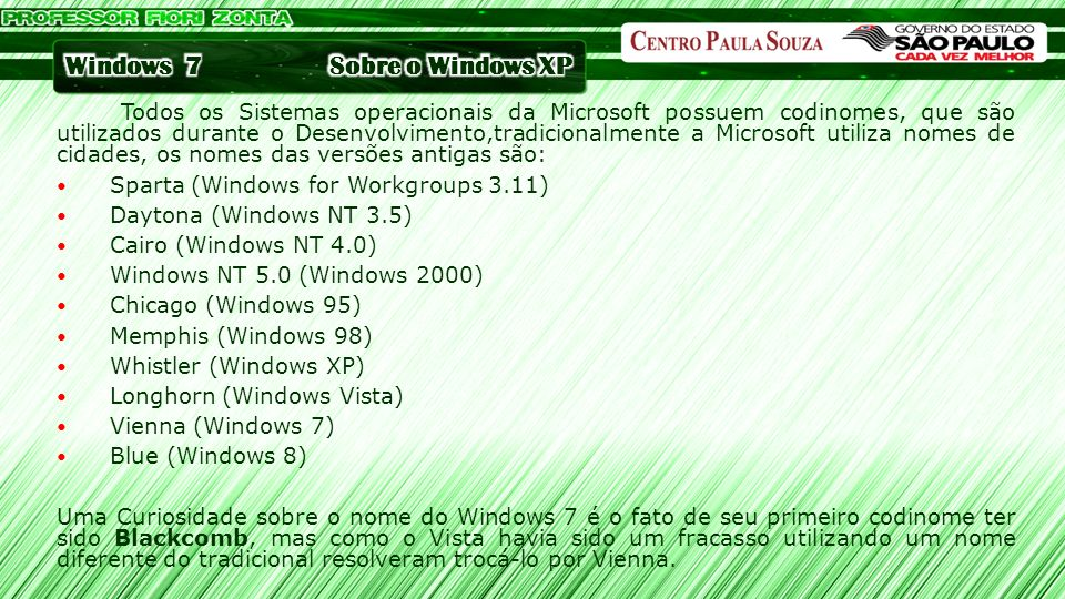 Sobre o Windows XP