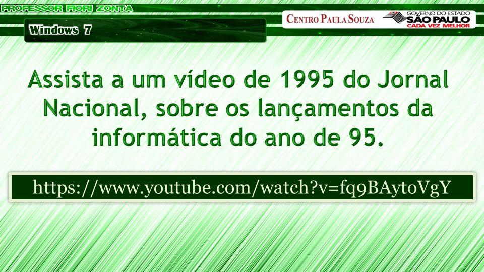 Assista a um vídeo de 1995 do Jornal Nacional, sobre os lançamentos da informática do ano de 95.