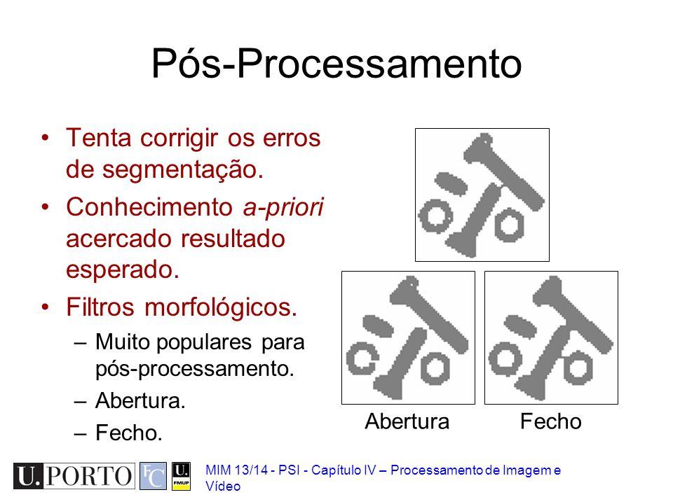 Pós-Processamento Tenta corrigir os erros de segmentação.