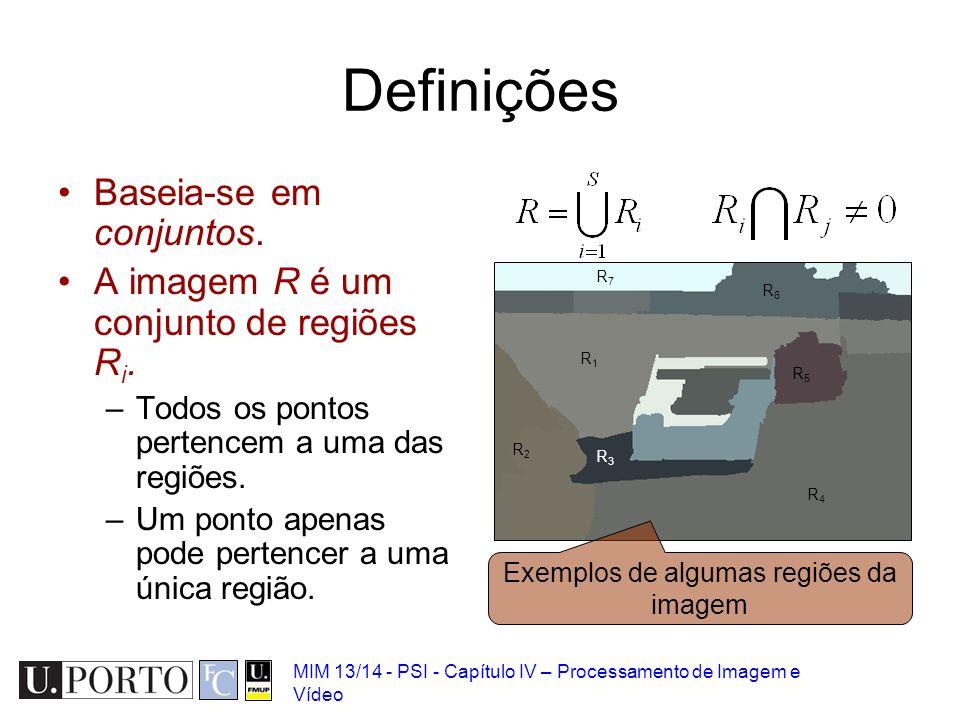 Exemplos de algumas regiões da imagem