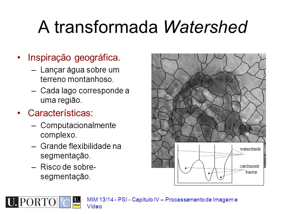 A transformada Watershed
