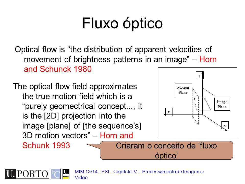 Criaram o conceito de 'fluxo óptico'