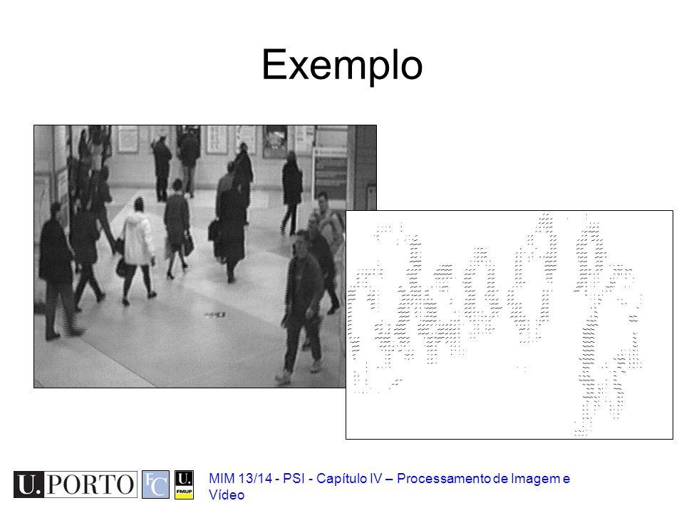 Exemplo MIM 13/14 - PSI - Capítulo IV – Processamento de Imagem e Vídeo