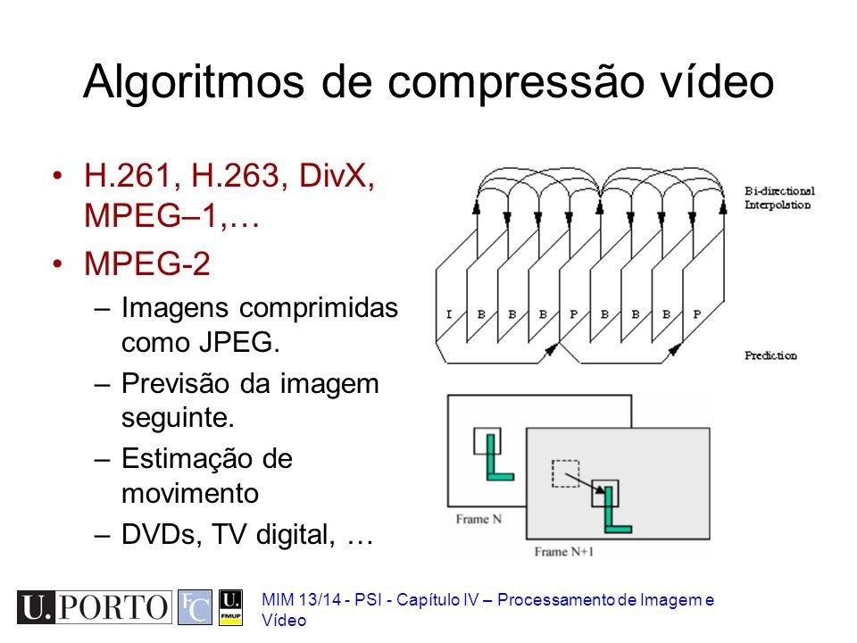 Algoritmos de compressão vídeo