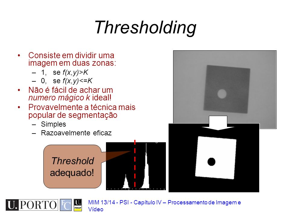 Thresholding Threshold adequado!