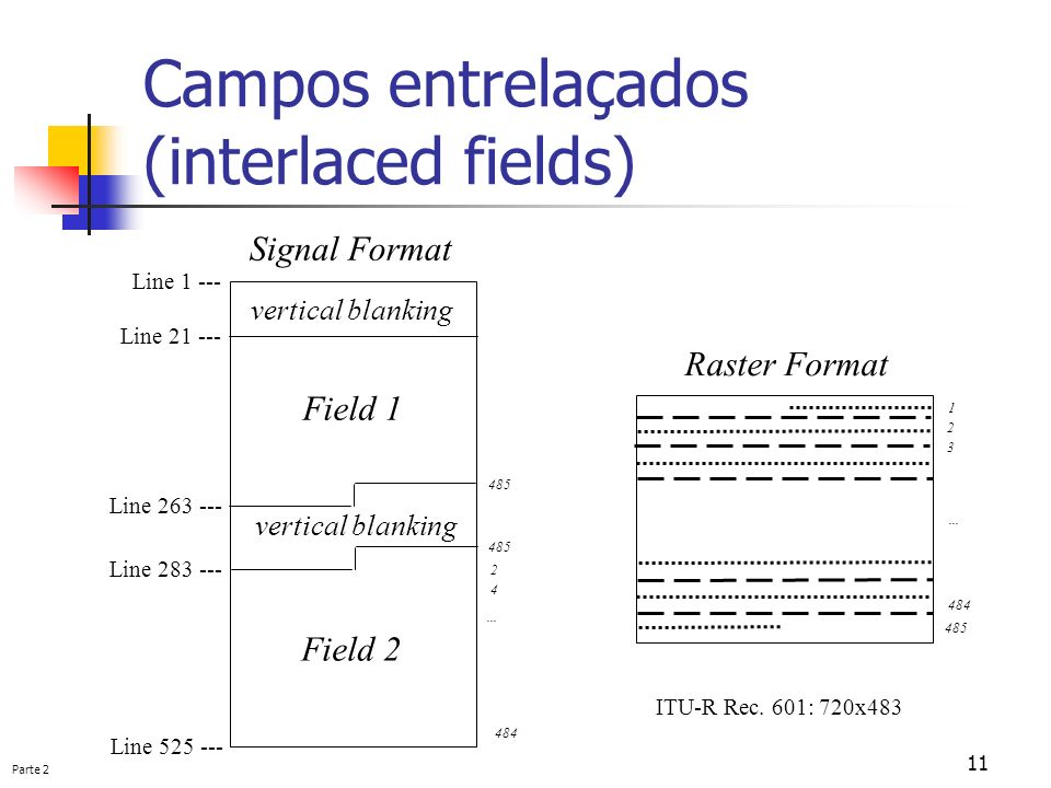 Campos entrelaçados (interlaced fields)