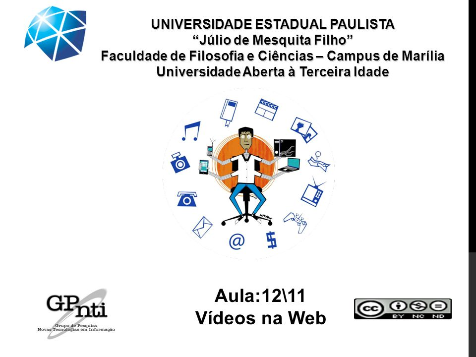 Aula:12\11 Vídeos na Web UNIVERSIDADE ESTADUAL PAULISTA
