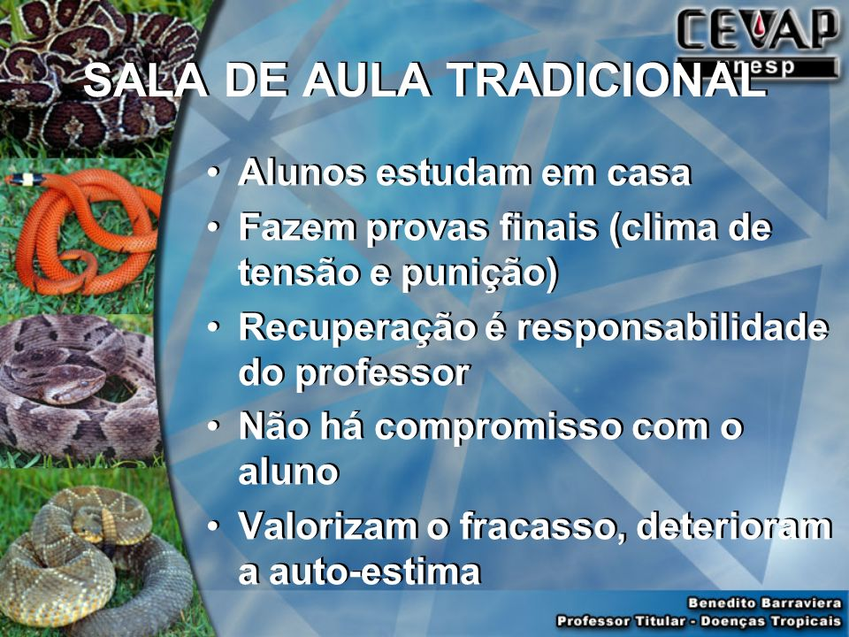 SALA DE AULA TRADICIONAL