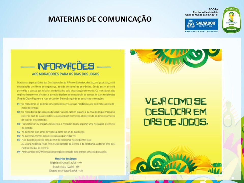 MATERIAIS DE COMUNICAÇÃO
