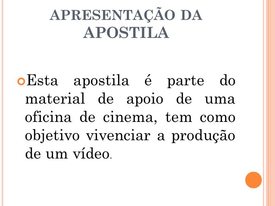 APRESENTAÇÃO DA APOSTILA