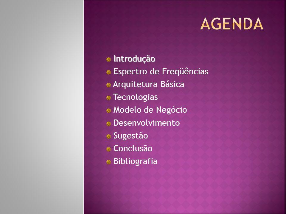 Agenda Introdução Espectro de Freqüências Arquitetura Básica