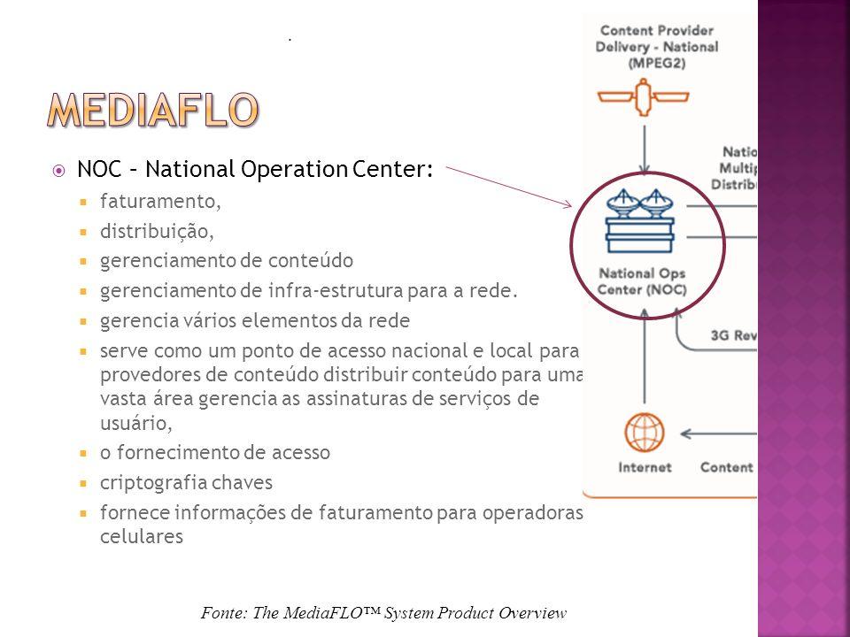 Mediaflo NOC – National Operation Center: faturamento, distribuição,