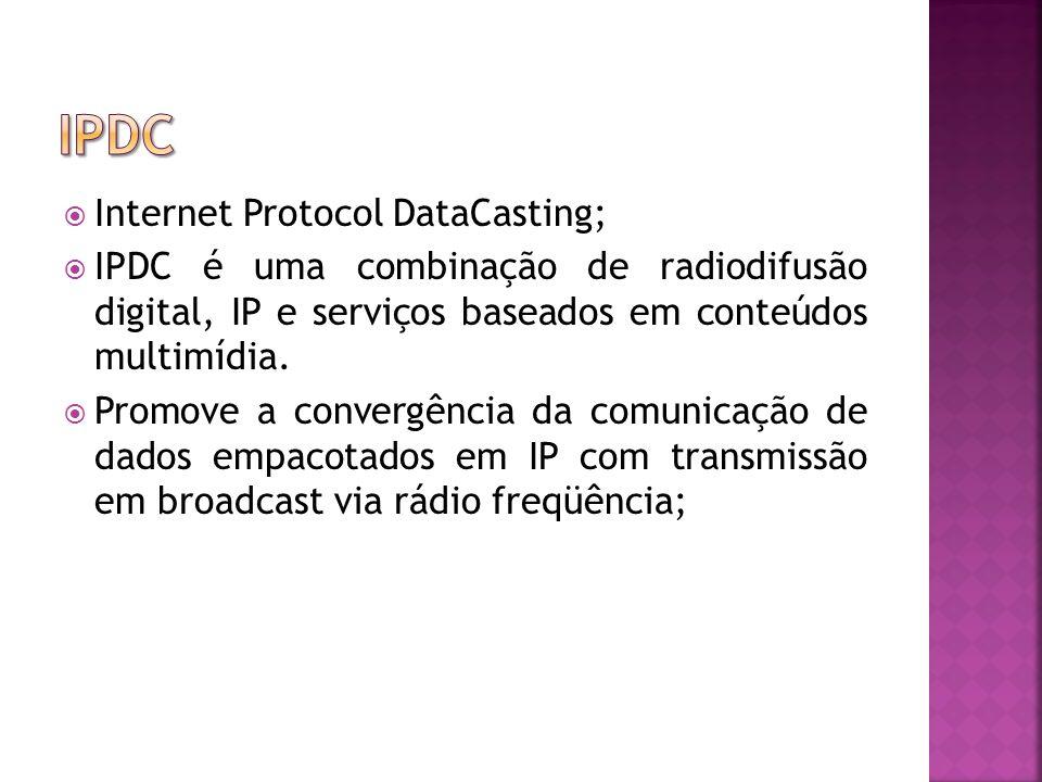 IPDC Internet Protocol DataCasting;