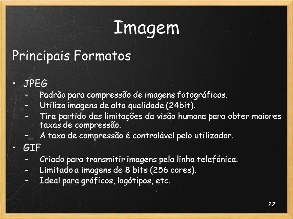 Imagem Principais Formatos JPEG GIF