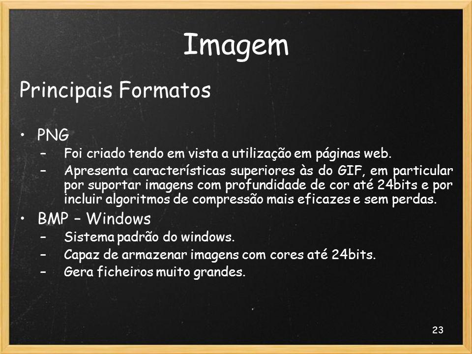 Imagem Principais Formatos PNG BMP – Windows