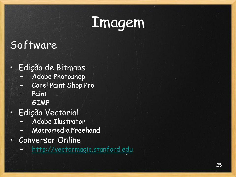 Imagem Software Edição de Bitmaps Edição Vectorial Conversor Online