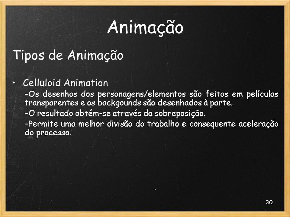 Animação Tipos de Animação Celluloid Animation
