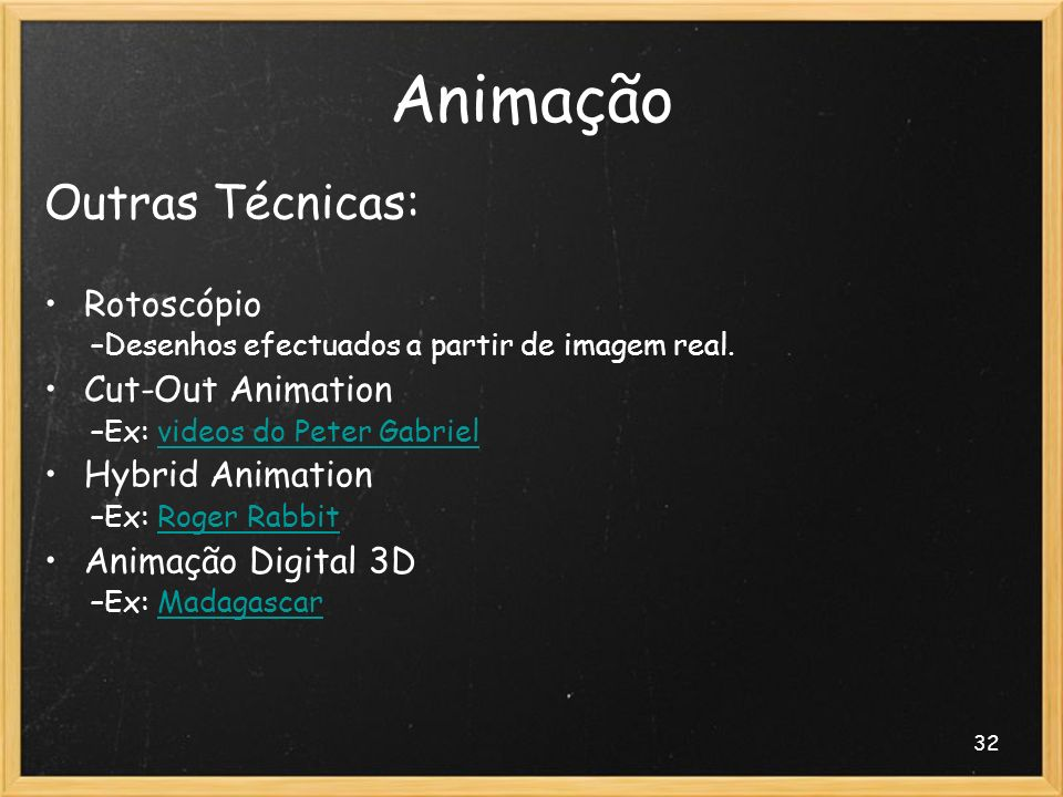 Animação Outras Técnicas: Rotoscópio Cut-Out Animation