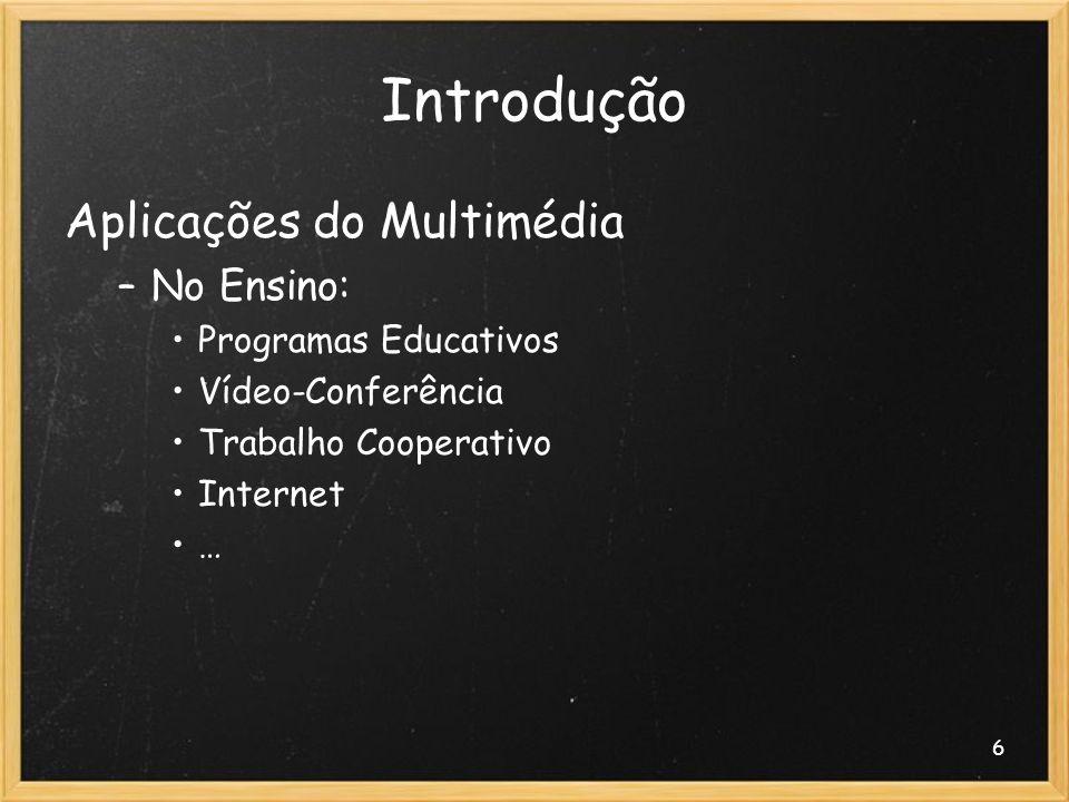 Introdução Aplicações do Multimédia No Ensino: Programas Educativos