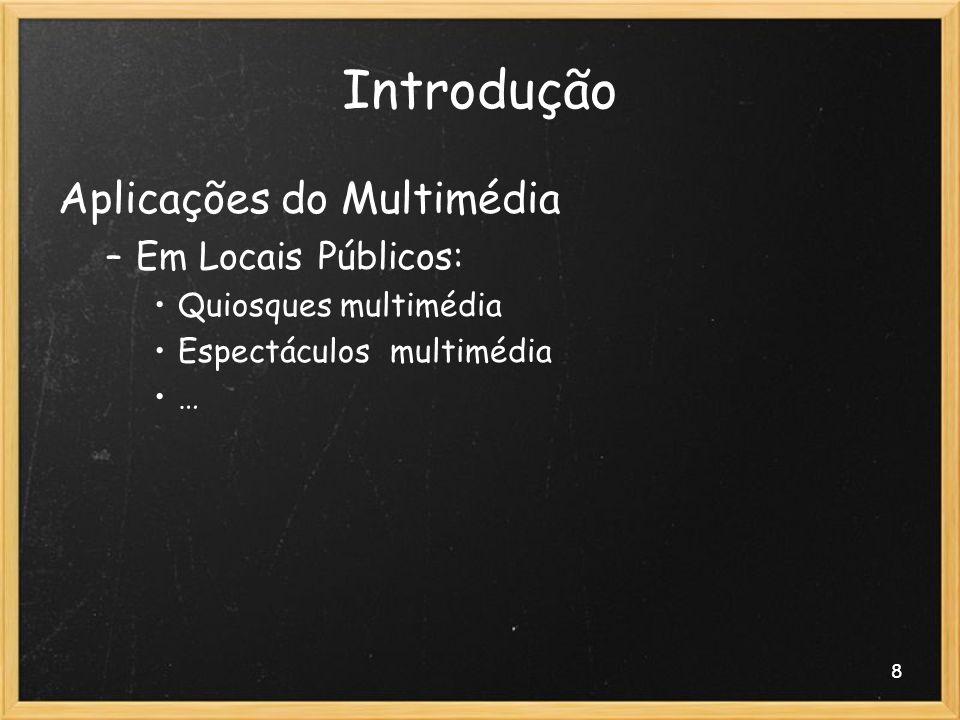 Introdução Aplicações do Multimédia Em Locais Públicos: