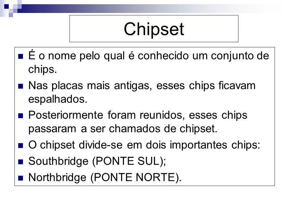 Chipset É o nome pelo qual é conhecido um conjunto de chips.