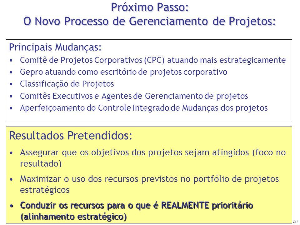 Próximo Passo: O Novo Processo de Gerenciamento de Projetos: