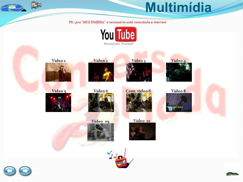 Multimídia Vídeo 1 Vídeo 2 Vídeo 3 Vídeo 4 Vídeo 5 Vídeo 6