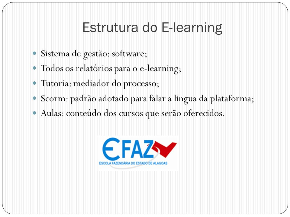 Estrutura do E-learning