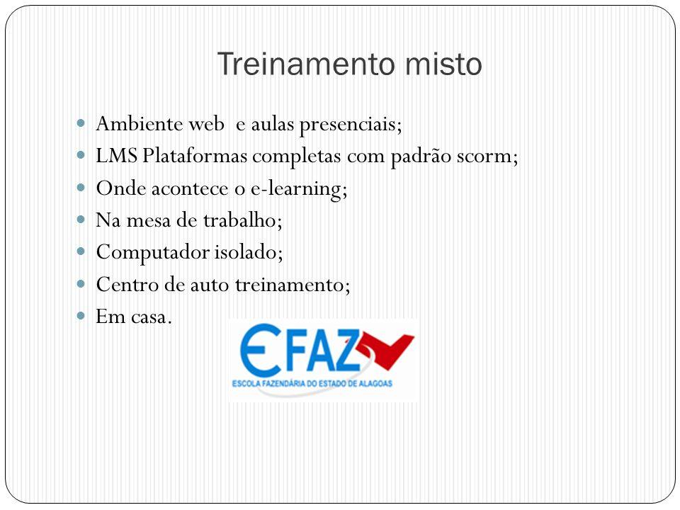 Treinamento misto Ambiente web e aulas presenciais;