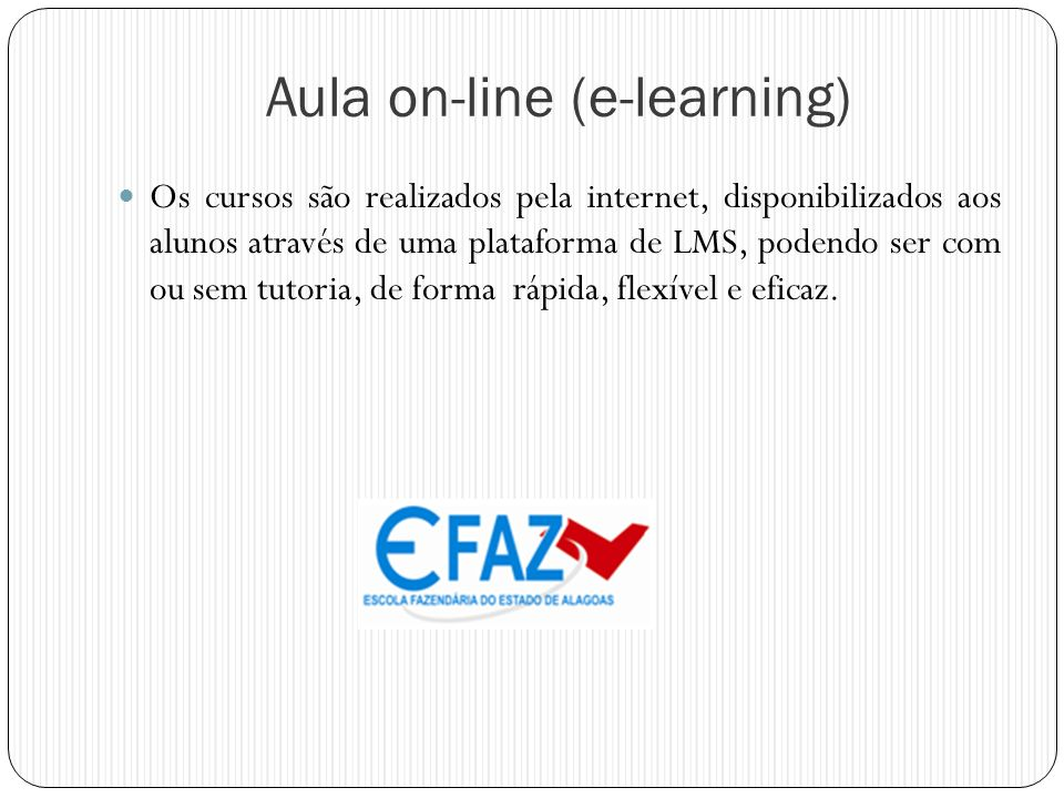 Aula on-line (e-learning)