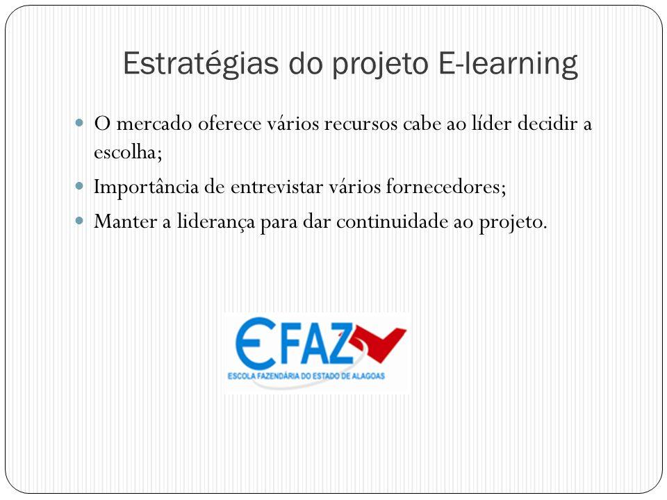Estratégias do projeto E-learning
