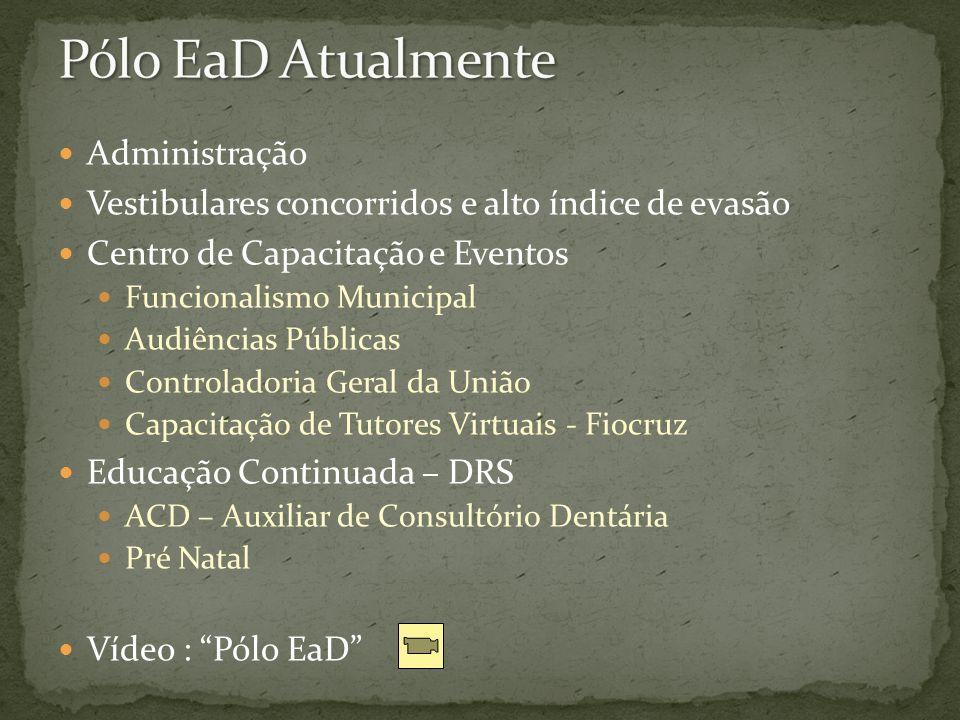 Pólo EaD Atualmente Administração