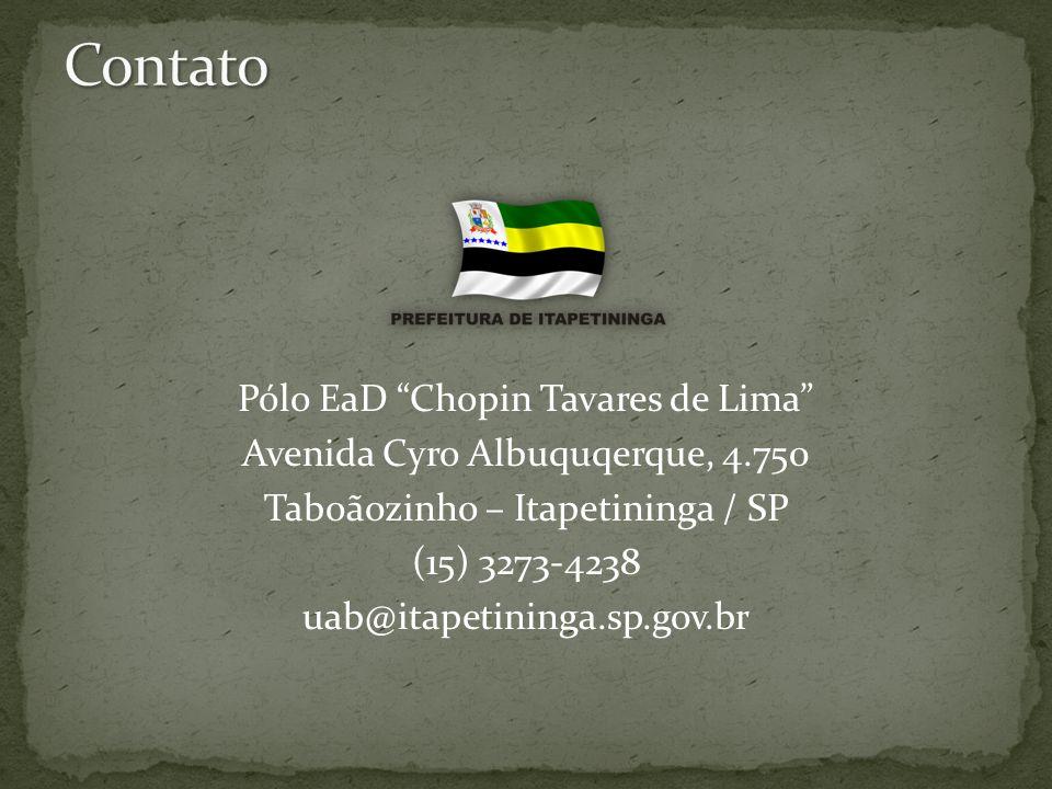 Contato Pólo EaD Chopin Tavares de Lima