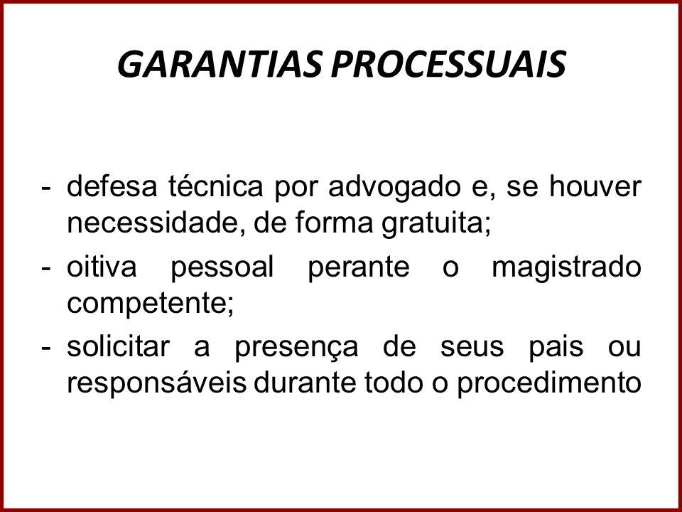 GARANTIAS PROCESSUAIS
