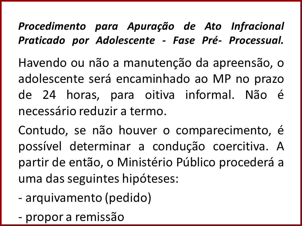 Procedimento para Apuração de Ato Infracional Praticado por Adolescente - Fase Pré- Processual.