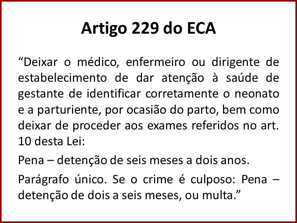 Artigo 229 do ECA