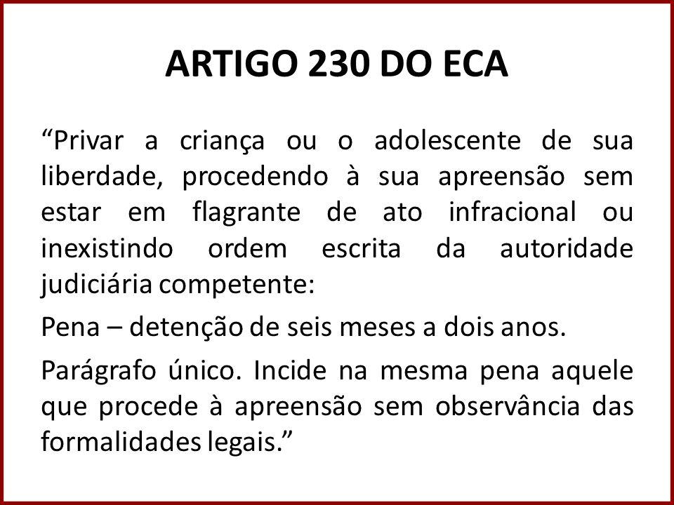 ARTIGO 230 DO ECA