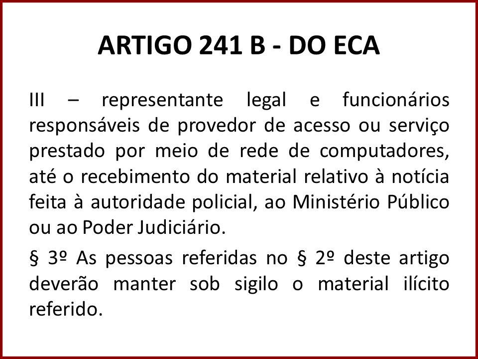 ARTIGO 241 B - DO ECA