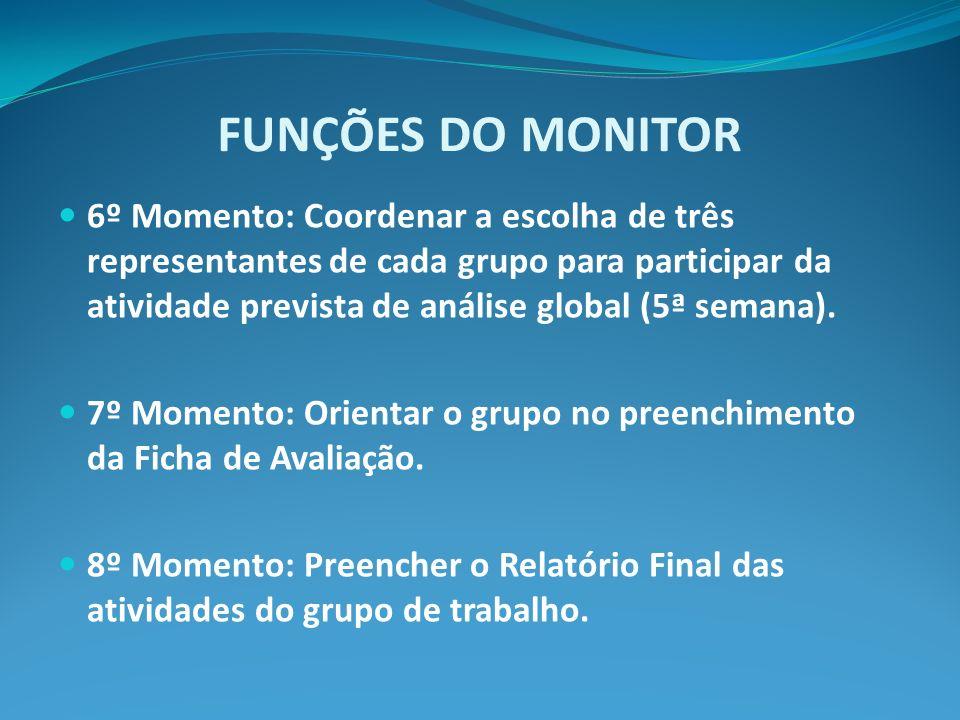 FUNÇÕES DO MONITOR