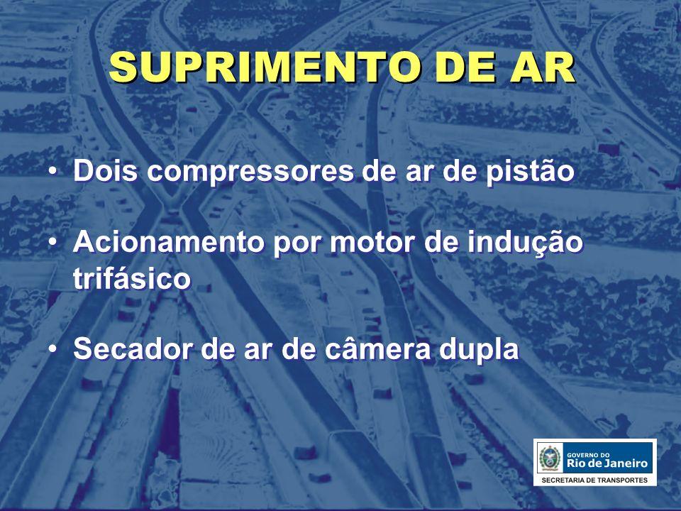 SUPRIMENTO DE AR Dois compressores de ar de pistão