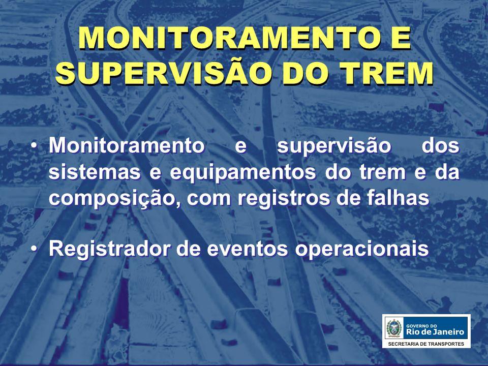 MONITORAMENTO E SUPERVISÃO DO TREM
