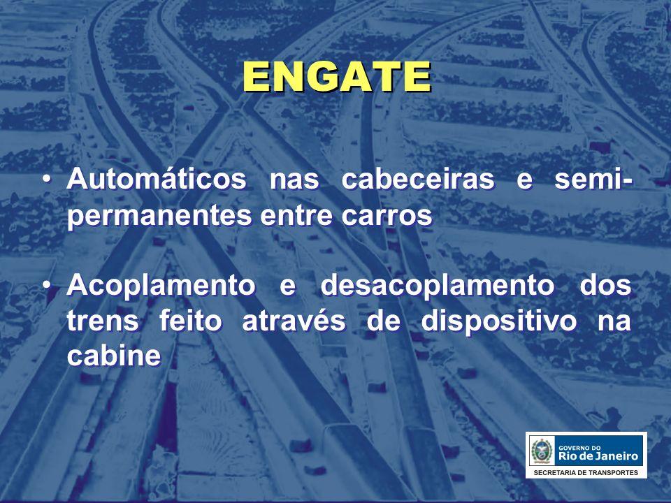 ENGATE Automáticos nas cabeceiras e semi-permanentes entre carros
