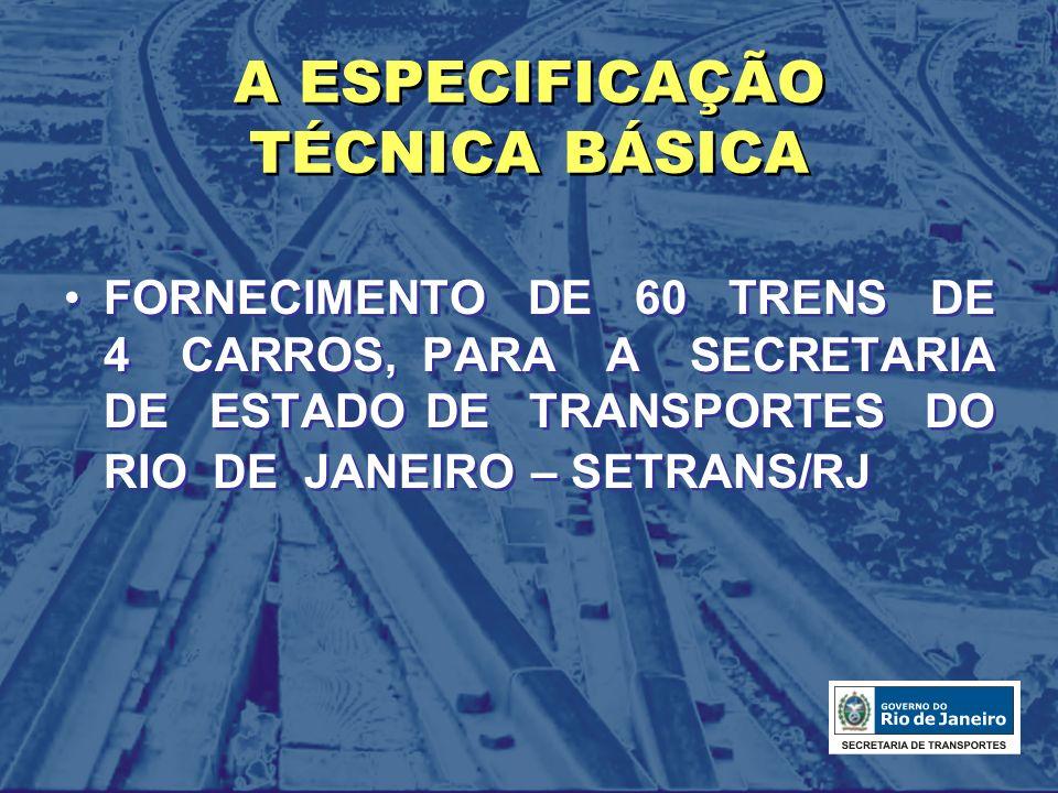 A ESPECIFICAÇÃO TÉCNICA BÁSICA