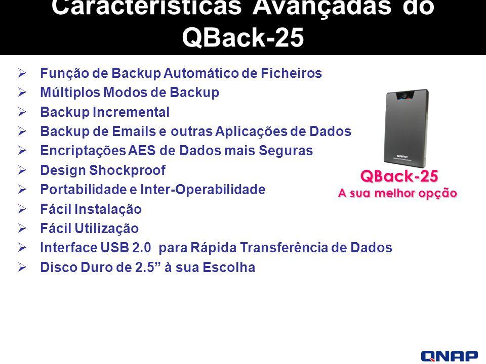 Características Avançadas do QBack-25