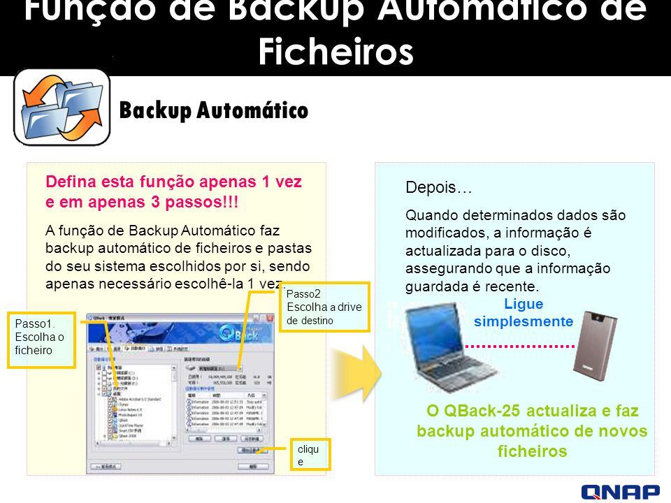 Função de Backup Automático de Ficheiros