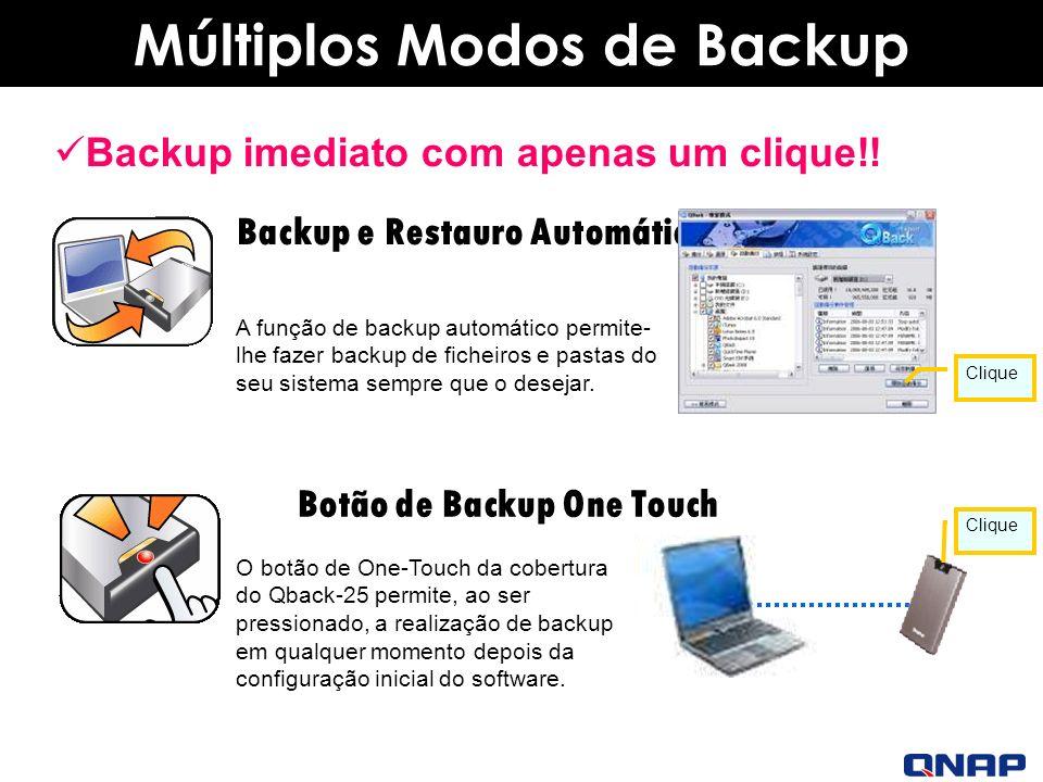 Múltiplos Modos de Backup