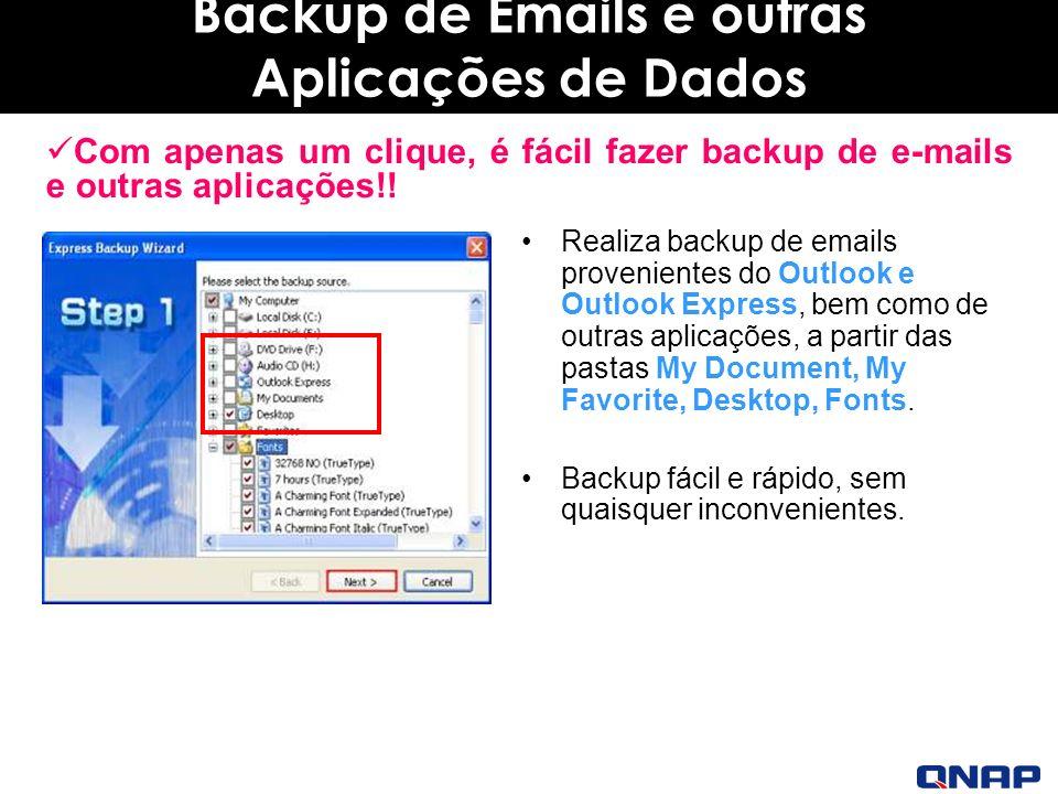 Backup de Emails e outras Aplicações de Dados