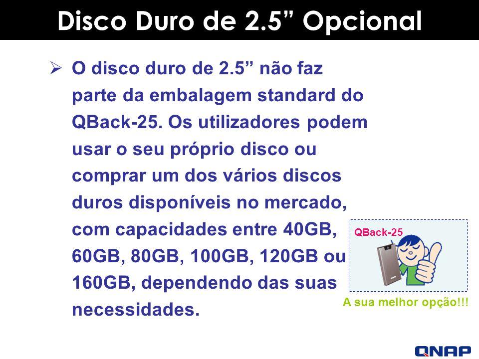 Disco Duro de 2.5 Opcional
