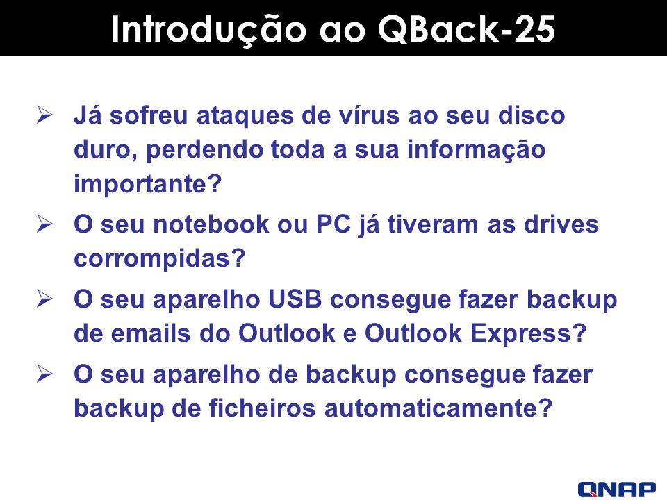 Introdução ao QBack-25 Já sofreu ataques de vírus ao seu disco duro, perdendo toda a sua informação importante