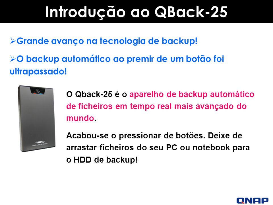 Introdução ao QBack-25 Grande avanço na tecnologia de backup!